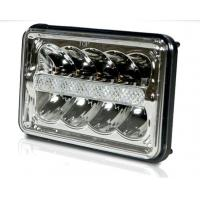 Cheap 5 Inch 45W LED Headlights Jeep Wrangler Hi / Low Beam Square Waterproof for sale
