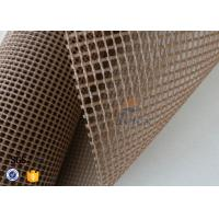Quality Brown 4x4mm Teflon / PTFE Coated Fiberglass Fabric For Conveyor Belt wholesale