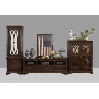 Quality American Antique Living leisure room furniture sets Wooden TV wall unit set by Floor stand and Tall display cabinet wholesale