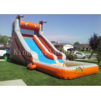 China Outside Playground Inflatable Water Slide With Mini Pool For Summer CE UL on sale