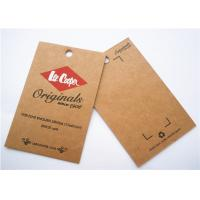 Quality Durable Clothing Label Tags Logo Printing Cardboard Hang Tags wholesale