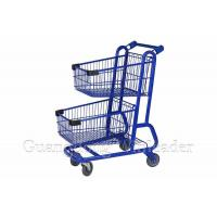 China Maintenance of stainless steel double supermarket trolley on sale