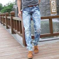 Quality 2018 Hot sale men's distressed ripped jeans ripped skinny men jeans wholesale