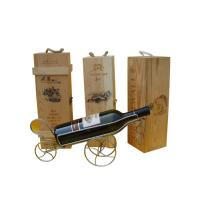 China wooden craft for packing wine on sale