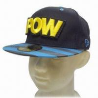 Quality Sports/Flat Peak Sports Caps, Made of 100% Cotton Twill wholesale