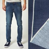 Quality New style Skinny denim jean for men 5-pockets jeans with selvedge denim fabric   wholesale