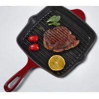 China cast iron enamel grill pan cookware on sale