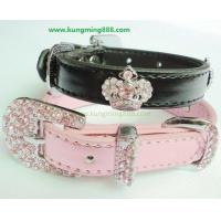Quality Dog Collars,Leather PET Collars,Rhinstone Dog Collars wholesale