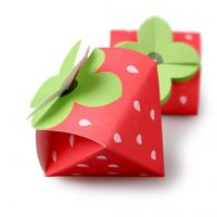 Quality Strawberry Shaped Paper Candy Box Packaging Custom Design Printing Logo wholesale