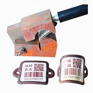 China Xiangkang good bendability Cylinder Bar Codes Tag QR scratch resistance fast Scanning By PDA or Mobile on sale