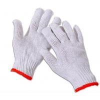 Quality 7 / 10 Gauge Safety White Hand Protection Gloves For Industrial Use 22-27cm Length wholesale