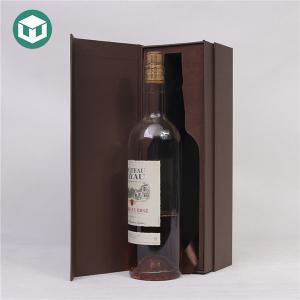 China Velvet Insert Spot UV F Flute Pantone Wine Packaging Boxes on sale