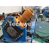 Quality PLC Electrical Control Hat Profile Cold Roll Forming Machine With 1.5 Inch Chain Transmission wholesale