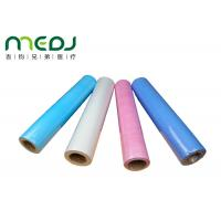 Quality Paper And PE Medical Disposable Bed Sheets 49cmX50m Fabric Roll wholesale