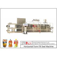 Customize Horizontal Form Fill Seal Machine , Top Spout Pouch Packing Machine