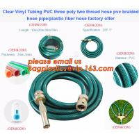 Quality Clear Vinyl Tubing PVC three poly two thread hose pvc braided hose pipe, plastic fiber hose factory offer wholesale