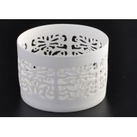 Quality Round Pure White Ceramic Candle Holders Heat Resisting ASTM Approve wholesale