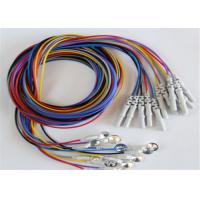 Quality Colorful Eeg Electrode Cap With Colorful Eeg Lead Wires 10pcs / Set wholesale