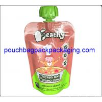 Quality Baby drinks food spouted bags, stand up pouch with spout for fruit juice milk packaging wholesale