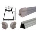 1200mm 6063-T5 Aluminum Body Tube Parts T5 Integrated Aluminum Tube Housing for sale