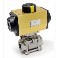 Quality flange pneumatic actuator three way ball valve wholesale