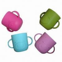 Quality Colorful Silicone Cups with 200ml Capacity, Customized Logos and Designs are Accepted wholesale