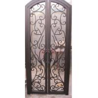Quality Safety Wrought Iron Double Front Door wrought iron door inserts wholesale