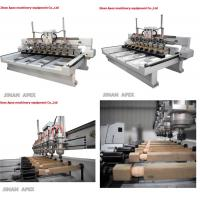 Quality Multi heads woodworking 3d cnc wood carving router machine for furniture legs. wholesale