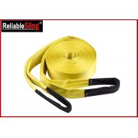 Quality Orange Heavy Duty Lashing Straps Flat Belt With Loop Ends With Break Strength 15,000 Lbs wholesale