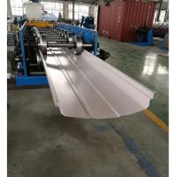 Quality Adjustable Width Standing Seam Roof Panel Roll Forming Machine With Auto Seamer wholesale