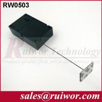 Quality Ipad Security Tether With Sticking Metal Plate , Shop Retail Anti Theft Pull Box  wholesale
