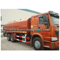 China Howo water tank truck 20cbm  tank capacity with engine 300hp EURO III red color on sale