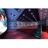 Quality 52 Seats 6D Cinema Equipment With 2 Person / Seat Red Motion Chairs For Technology Museum wholesale