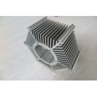 Quality LED Round Sunflower Extruded Heat Sink Profiles With Silver Anodized / Tapping wholesale