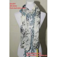 Quality Ladies new spring small cailco w/lace foulard fashion scarf wholesale
