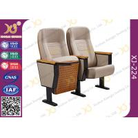 Quality Customized Seat Advanced Molded Foam Steel School Auditorium Chairs With Back Pad wholesale