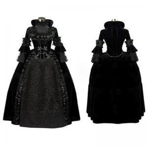 Quality Medieval Dress Wholesale XXS to XXXL Black Gothic Renaissance Medieval Evening Party Dress Cosplay wholesale