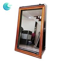 Quality Touch screen mirror touch screen booth 55inch magic mirror selfie booth case wholesale