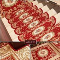Quality Red Traditional PVC Carpet Flooring , Oval Shape Stair Tread Rugs wholesale