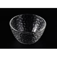 Quality Wide Mouth Glass Candle Bowl , Clear Galss Candle Container wholesale