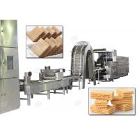 Quality Gas Heating Wafer Biscuit Production Line , Wafer Snack Biscuits Making Machine 110 Kg / H wholesale