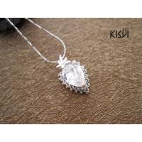 Quality Unique design 925 Sterling Silver Gemstone Pendant with Zircon W-VD154 wholesale