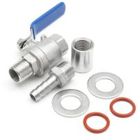 """Quality Stainless Steel Ball Valve 1/2"""" Barb Pipe Weldless Compact Male thread NPT wholesale"""