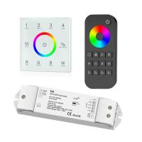 Quality 4 Zone RGBW LED Controller , Led Dimmer Touch Panel With Remote Control wholesale