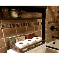 Quality Bathroom Organization Toilet Paper Holder wood Crate wholesale
