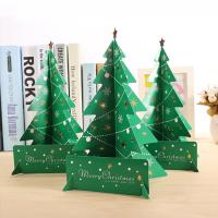 China Wholesale Mini Paper Christmas Tree Decor Desk Table Small Party Ornaments Xmas Gift on sale