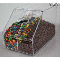 Quality Acrylic Candy Store Display Cases , Divided Acrylic Bin Display wholesale