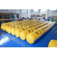 Quality Yellow Inflatable Tubes With 0.9mm Durable Commercial Grade PVC Tarpaulin wholesale