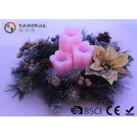 Quality 3pk Flower Shaped Decorative Led Candles Fake Wick With CE / ROHS wholesale