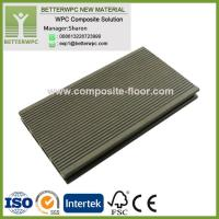 China 145*24mm Wholesale GoodPriceSyntheticPlasticWood Decking Highly UV Resistant WPC Decking Floor on sale